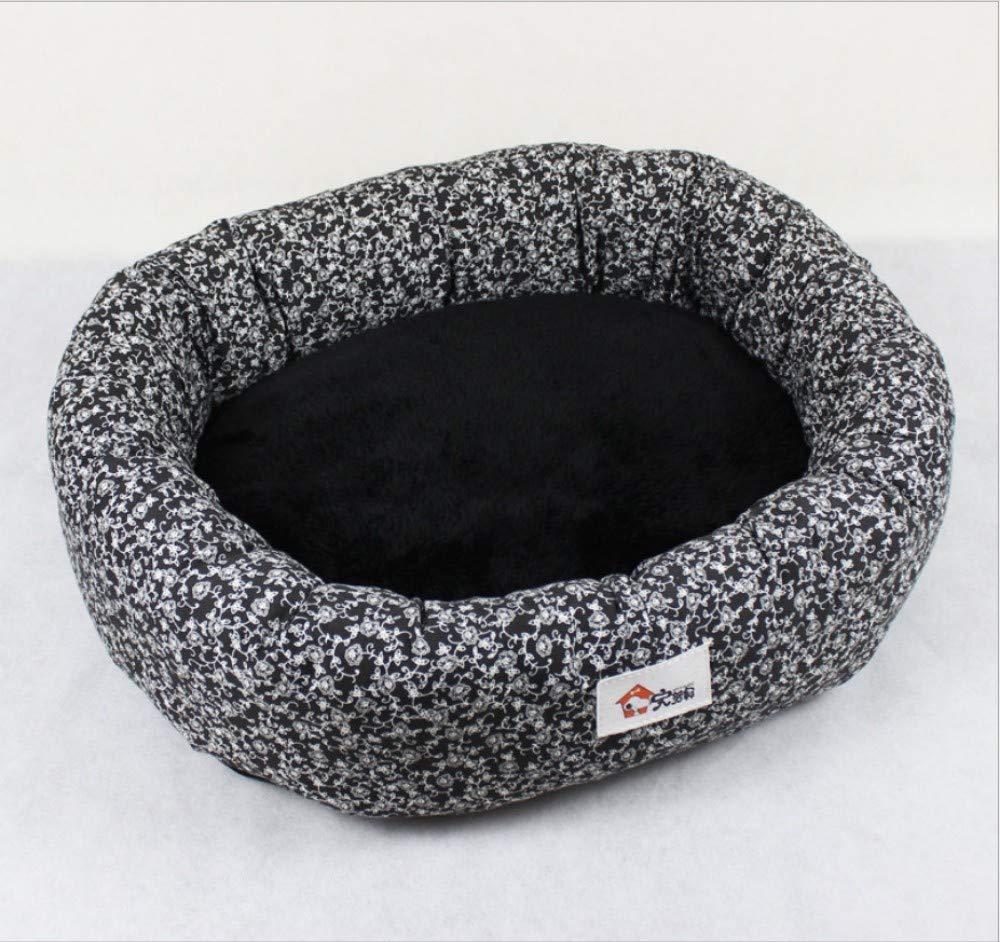 A M(68X53X21CM) A M(68X53X21CM) Dog House Dog Mat Dog Bed Creative Rounded Print Pet Nest Teddy golden Hair Medium Large Dog Dog Kennel