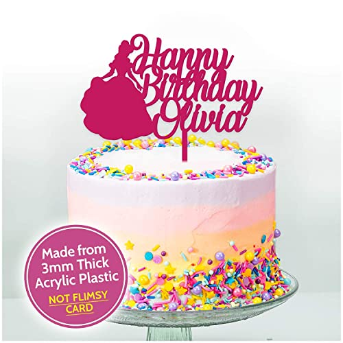 PRINCESS Happy Birthday Cake Topper PERSONALISED With ANY NAME