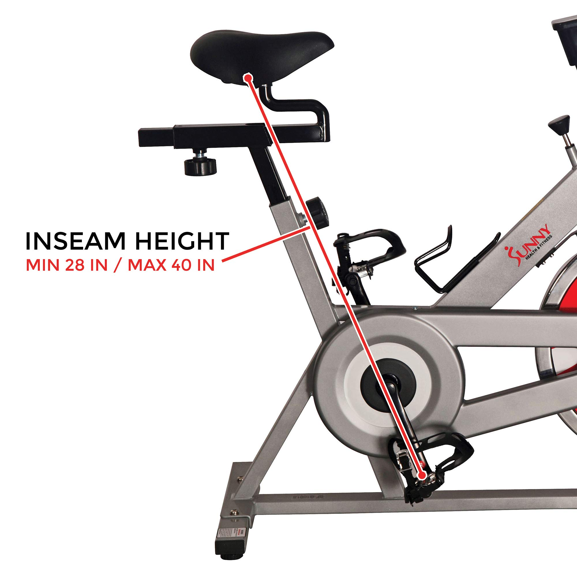 Sunny Health & Fitness SF-B1001S Indoor Cycling Bike, Silver by Sunny Health & Fitness (Image #17)