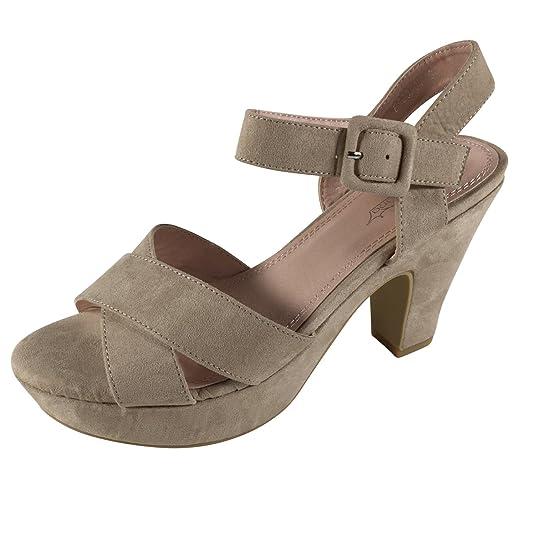 Damen Sandalen Plateau Blockabsatz Sandaletten High Heels Pumps BY9   Amazon.de  Schuhe   Handtaschen a71b01924e