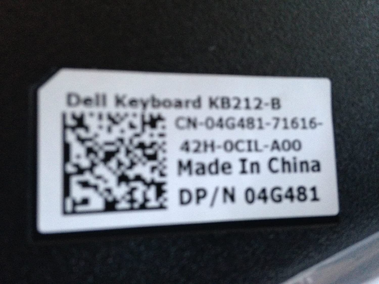 Amazon.com: Dell 4G481 Black USB 104-Key Keyboard KB212-B SK-8120 ...