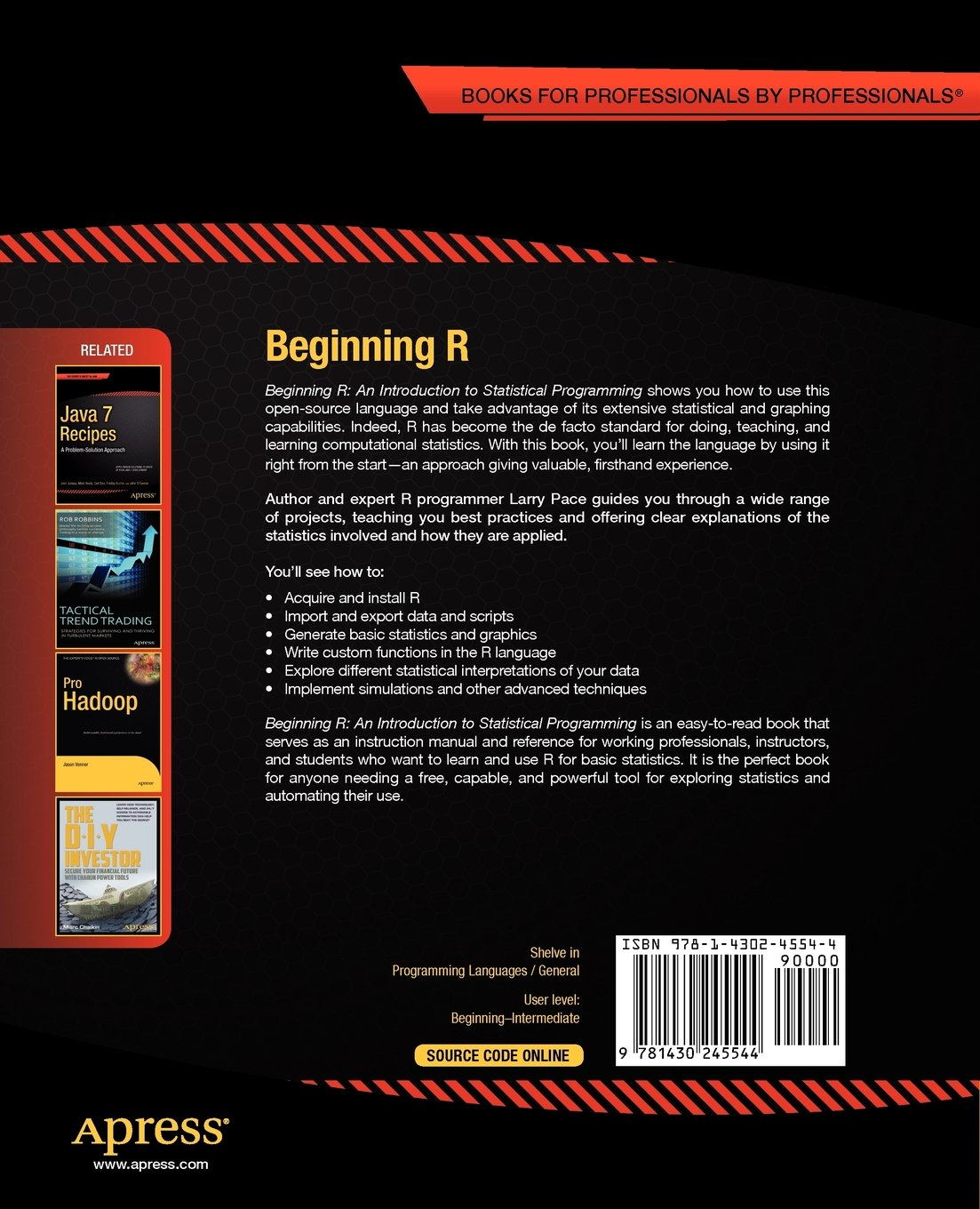 Buy Beginning R: An Introduction to Statistical Programming (Expert's Voice  in Programming) Book Online at Low Prices in India   Beginning R: An ...