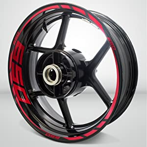 Reflective Red Motorcycle Rim Wheel Decal Accessory Sticker for Kawasaki Ninja 650