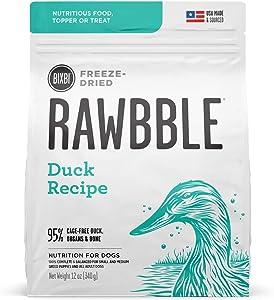 BIXBI Rawbble Freeze Dried Dog Food, Duck Recipe, 12 Oz