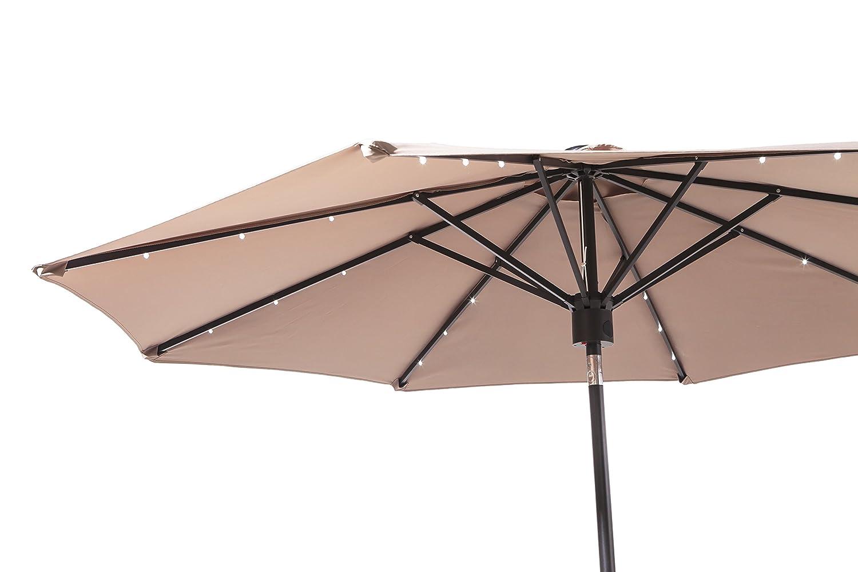 Backyard Classics 9-Foot Umbrella with Bluetooth Speaker and LED Lights