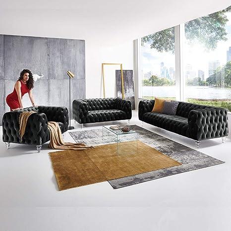 Moebella Salon de Jardin Design 3-2-1 Places Chesterfield en ...