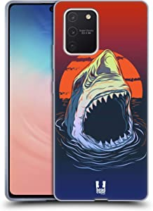 Head Case Designs Hungry Shark Sea Monsters Soft Gel Case Compatible with Samsung Galaxy S10 Lite