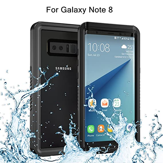new styles 823b1 bd870 Re-sport Shockproof Series for Galaxy Note 8 Waterproof Case, Shockproof  Dustproof Full-Sealed Protective Underwater Phone Case Cover with IP68 ...