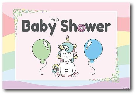 50 Invitaciones De Unicornio Para Baby Shower Tarjetas De