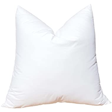 Pillowflex Synthetic Down Pillow Insert for Sham Aka Faux/Alternative (22 Inch by 22 Inch)