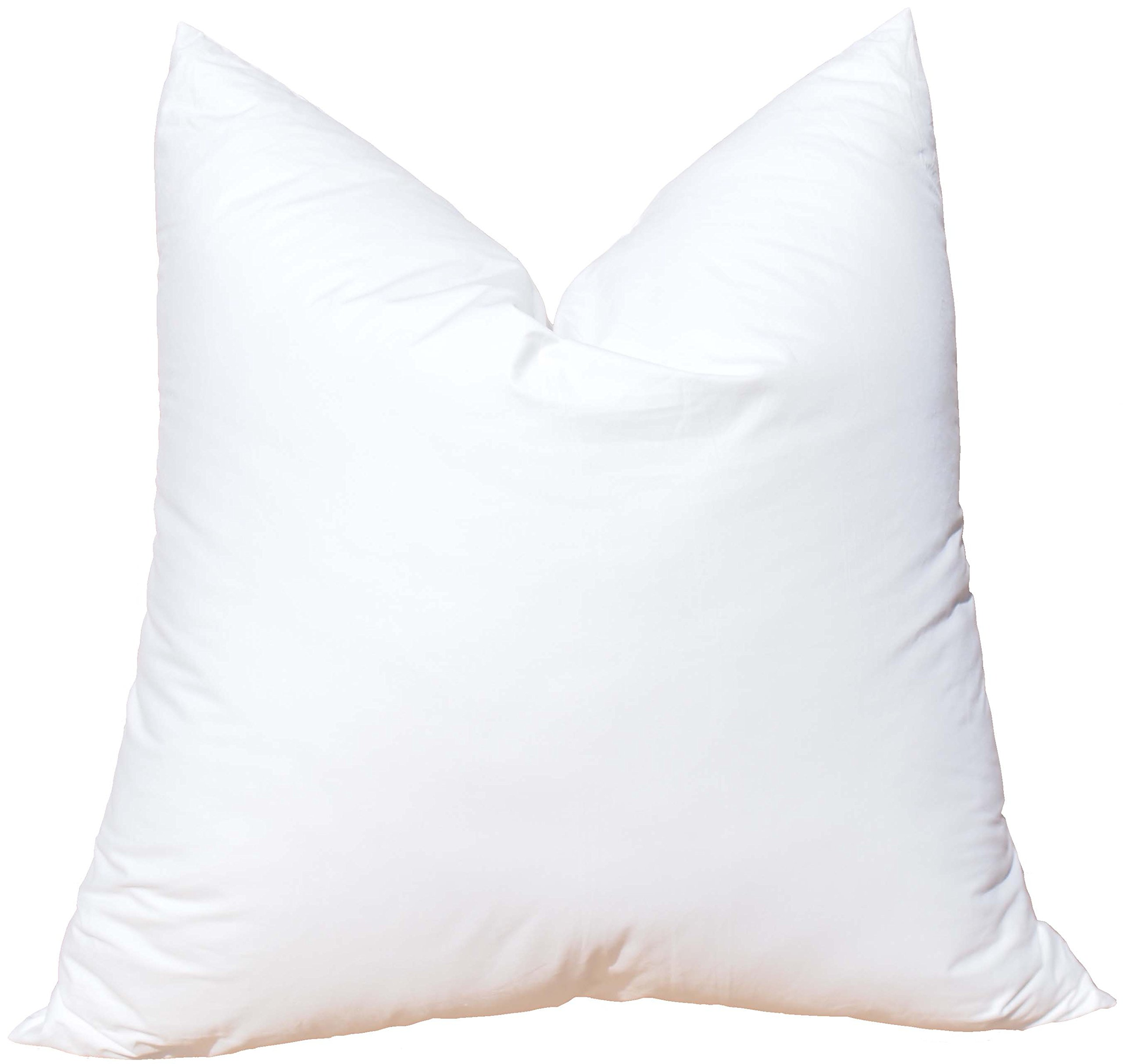 Pillowflex Synthetic Down Pillow Insert for Sham Aka Faux/Alternative (28 Inch by 28 Inch)