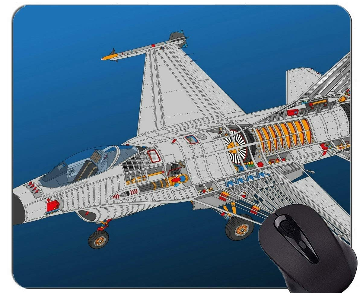 Military Team Precision Flight サンダーバードノンスリップゴムベースマウスパッド 190604-008 220*180*3 mm B07SND2VXK Yt22 220*180*3 mm
