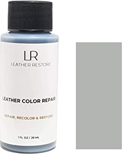 Leather Restore Leather Color Repair, Light Gray 1 OZ - Repair, Recolor and Restore Couch, Furniture, Auto Interior, Car Seats, Vinyl and Shoes