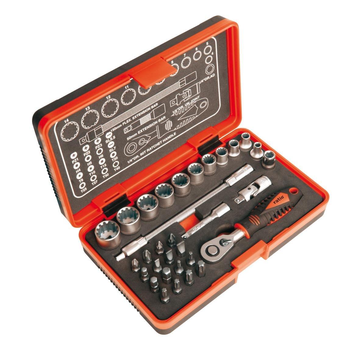 Set de llave de carraca 1//4 32 piezas 6792H