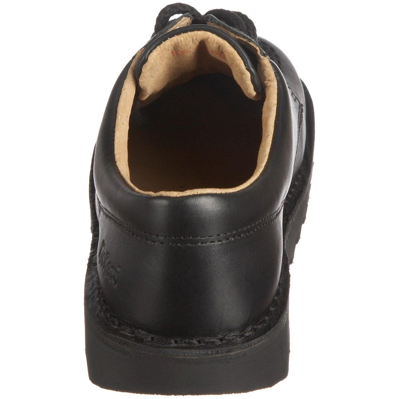 Kickers Kick schwarz Lo Core, Jungen SchnürHalbschuhe schwarz Kick 29a5c8