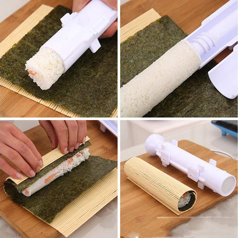 Ocamo Fai da Te Utensile per Realizzare Sushi Roller Roll Muffa Cucina Riso Carne Verdura Rotolo Strumento per Fare