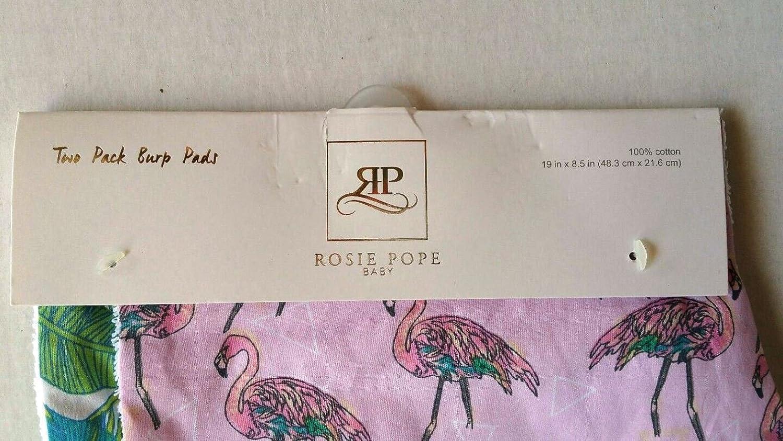 Flamingo /& Palms Print Great Baby Gift! Baby Burp Cloths 2PKs by ROSIE POPE