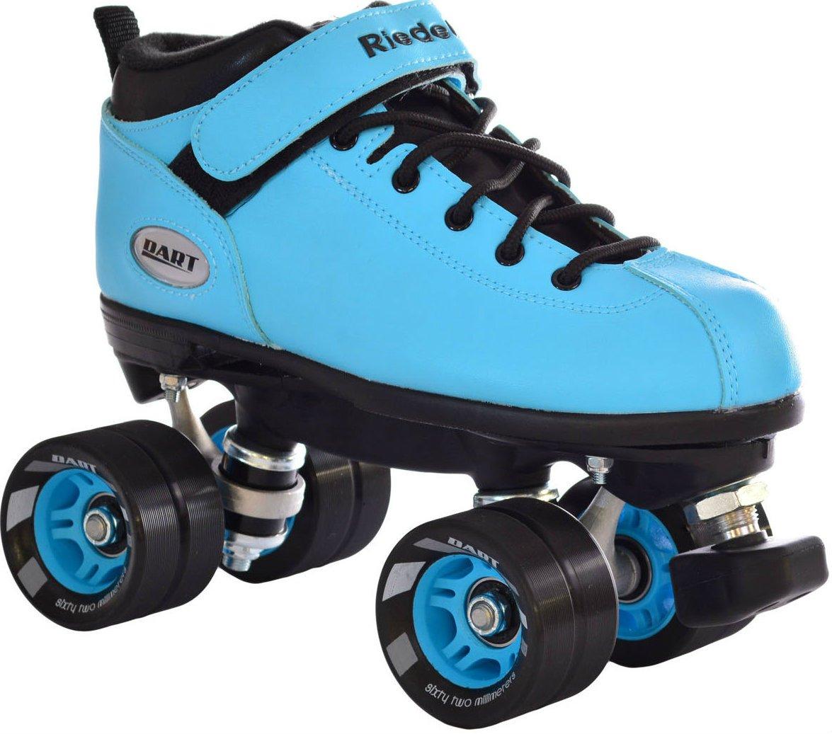 Zebra roller skates - Amazon Com Riedell Dart Ice Blue Quad Roller Derby Speed Skates Sports Outdoors