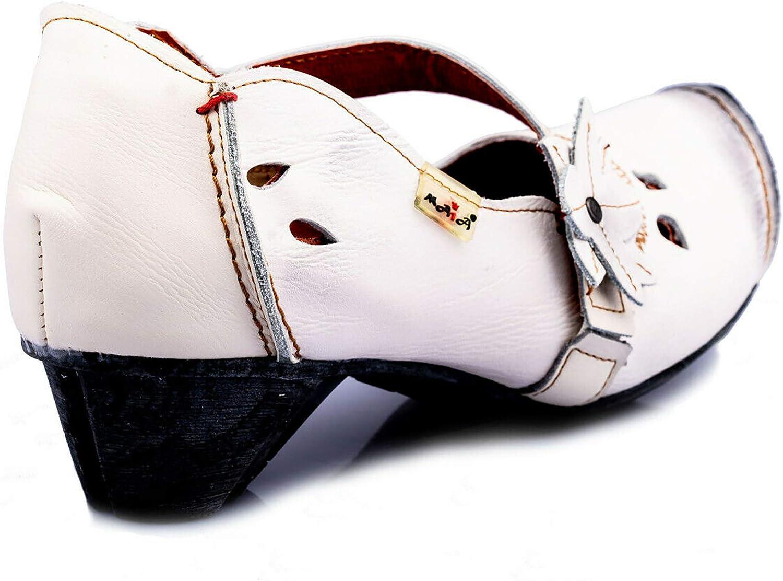 Damen Halbschuhe mit Absatz Echtleder Schuhe Gr/ö/ßen 36-42 TMA Pumps 8766