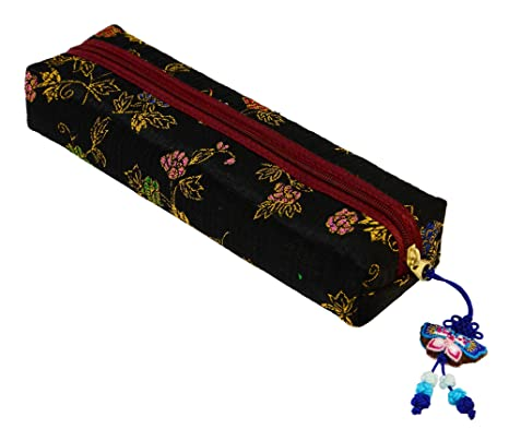 Negro bolsa Original estuche brocados - diseño de la tela ...