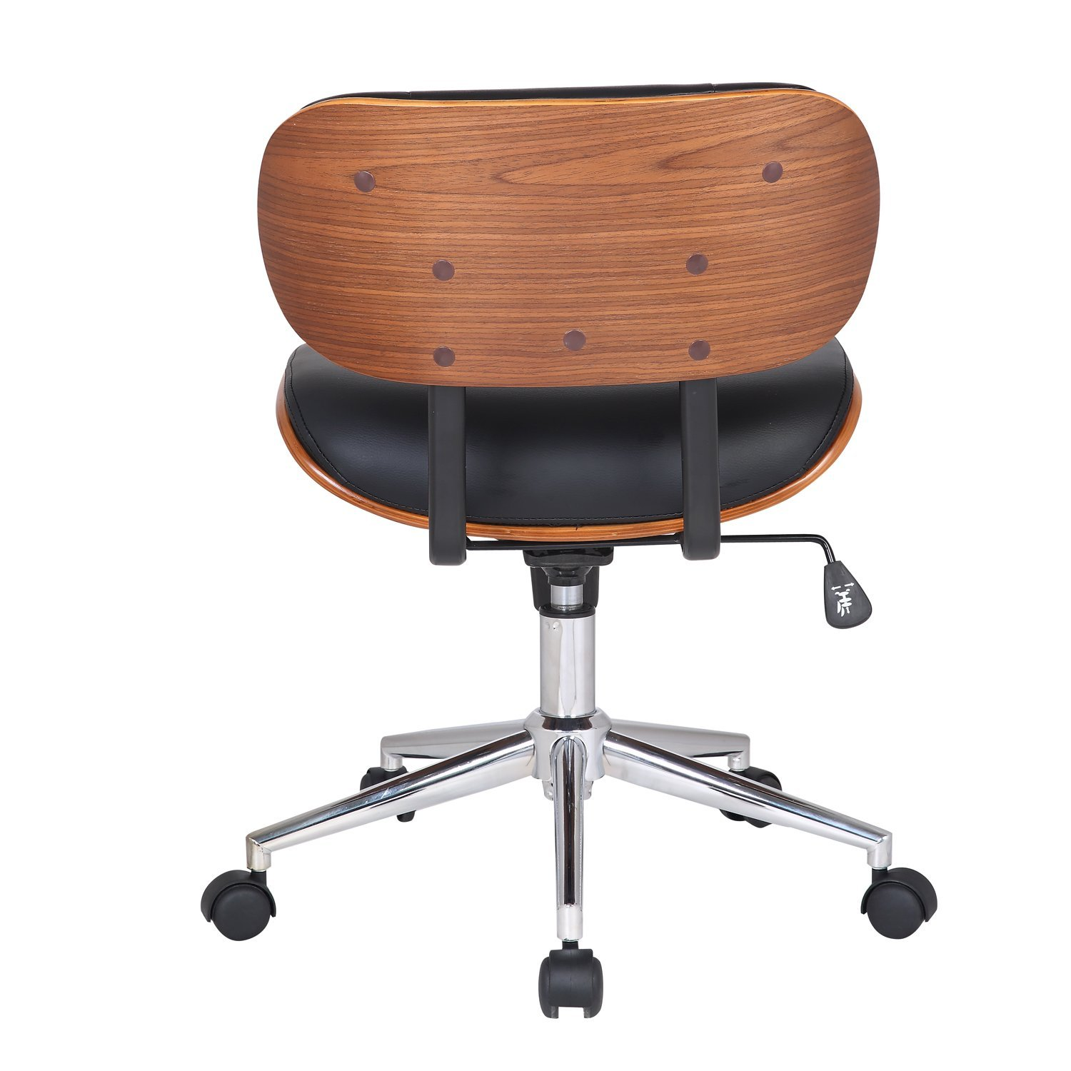 amazoncom joveco bentwood button tufted adjustable height swivel desk chair kitchen u0026 dining