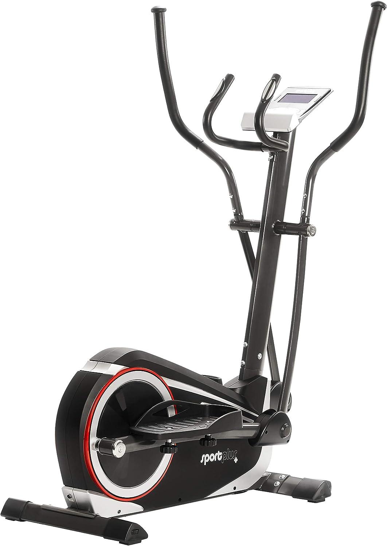 SportPlus SP-ET-9600-iE Bicicleta Elíptica con Aplicación para Smartphone, 24 Niveles de Resistencia, Sensores de Pulso Manual, Peso del Usuario 150 kg, 120x62x160cm