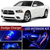 sky auto inc dodge charger 2006-2016 led premium blue light interior  package kit (