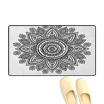 Amazon Com Zojihouse Henna Door Mat Increase Sunflower Pattern In