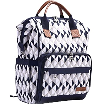 Amazon.com   Baby Diaper Bag Backpack Multi - Function Waterproof Daddy and  Mom Travel Outdoor Backpack Nappy Maternity Bag with Stroller Hooks and  Changing ... 1825268f36