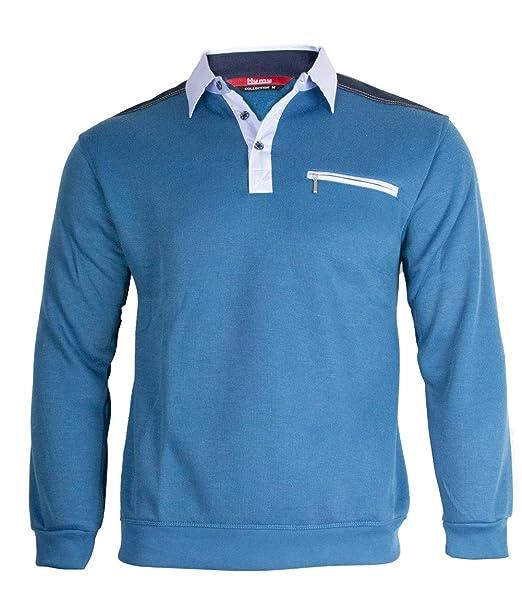 premium selection 54c3d 5e056 Soltice Herren Langarm Sweatshirt, Poloshirt, Polohemd, Blousonshirts mit  Kragen (M bis 3XL)