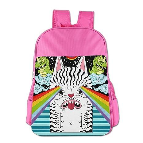 Amazon.com  ZHIYANG Lightweight Childrens Backpacks Weird Cat Attact ... 905446dbed