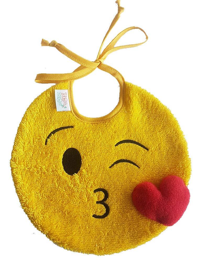 color Amarillo Zigozago Babero EMOJI