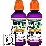 TheraBreath Kids Anti-Cavity Oral Rinse, Organic Gorilla Grape Flavor, 16 Ounce, Pack of 2