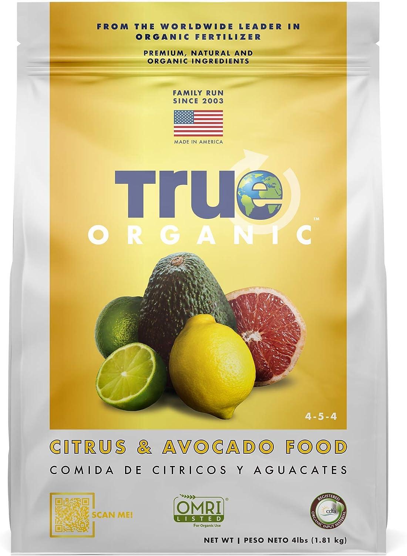 True Organic - Citrus & Avocado Plant Food 4lbs - CDFA, OMRI, for Organic Gardening…