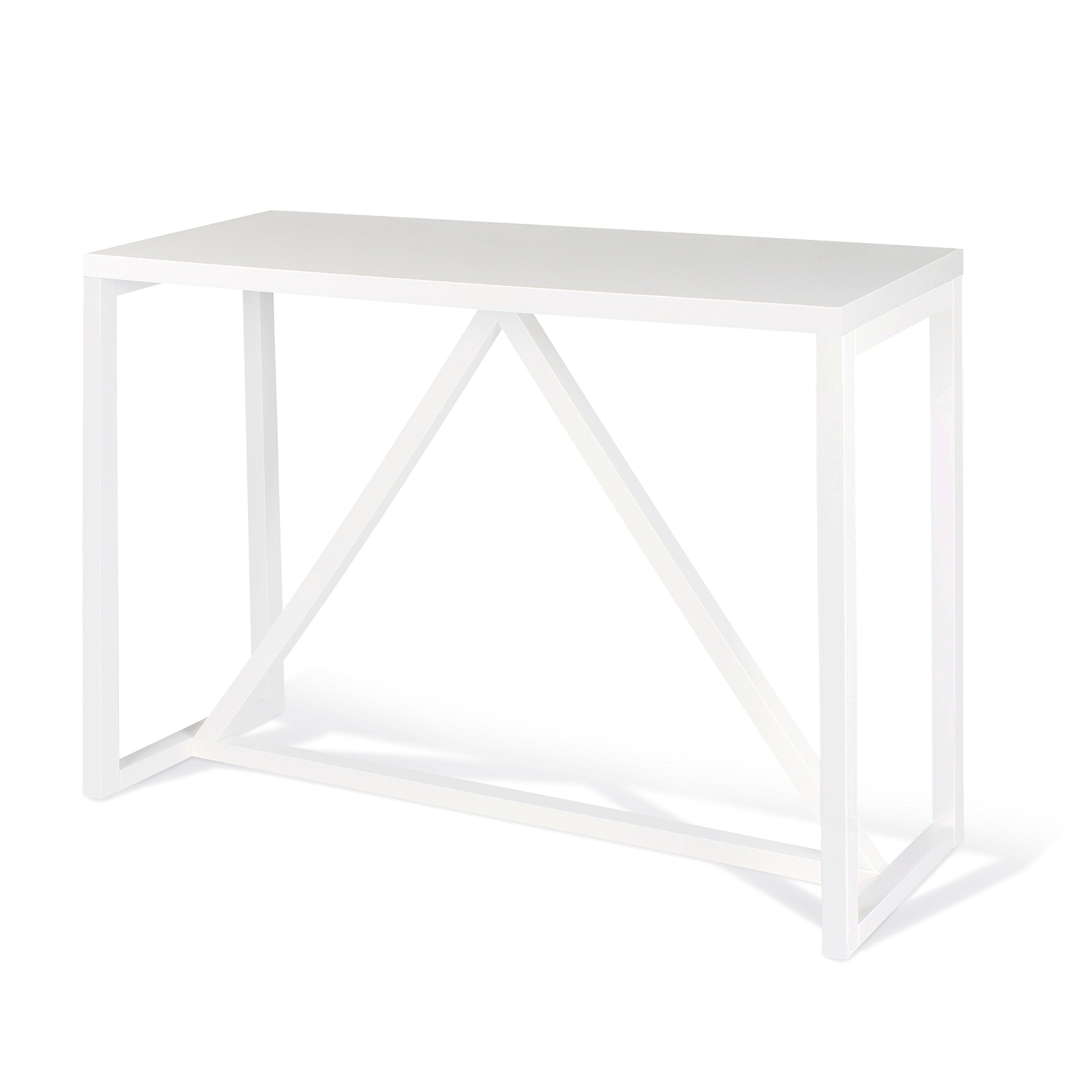 Kate and Laurel Kaya Wood Console Table, White by Kate and Laurel