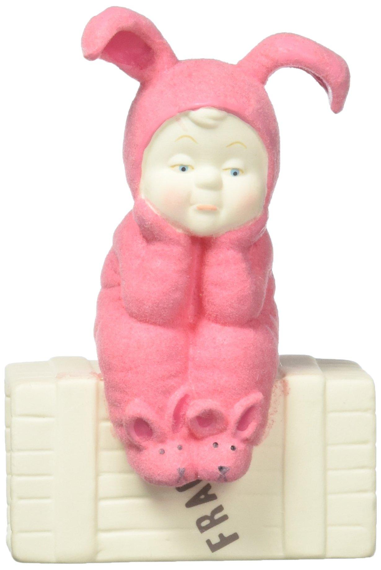 "Department 56 Snowbabies A Pink Nightmare Porcelain Figurine, 4"""