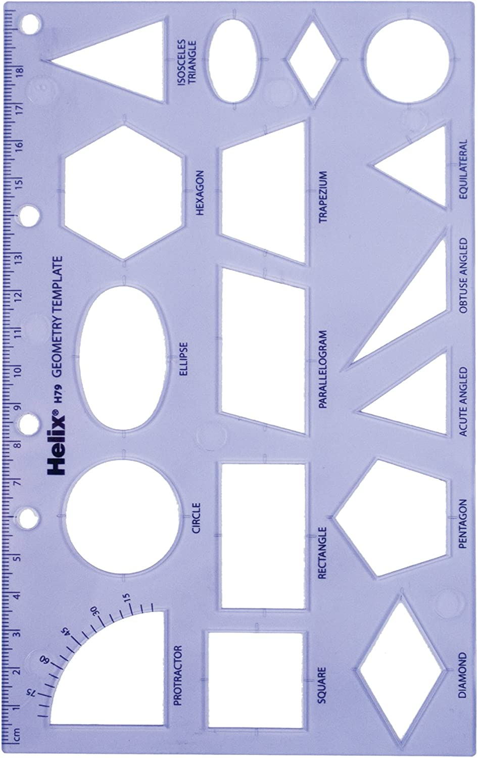 Maped Helix USA Helix Geometry Shape Template (08791) : Paper Templates : Office Products