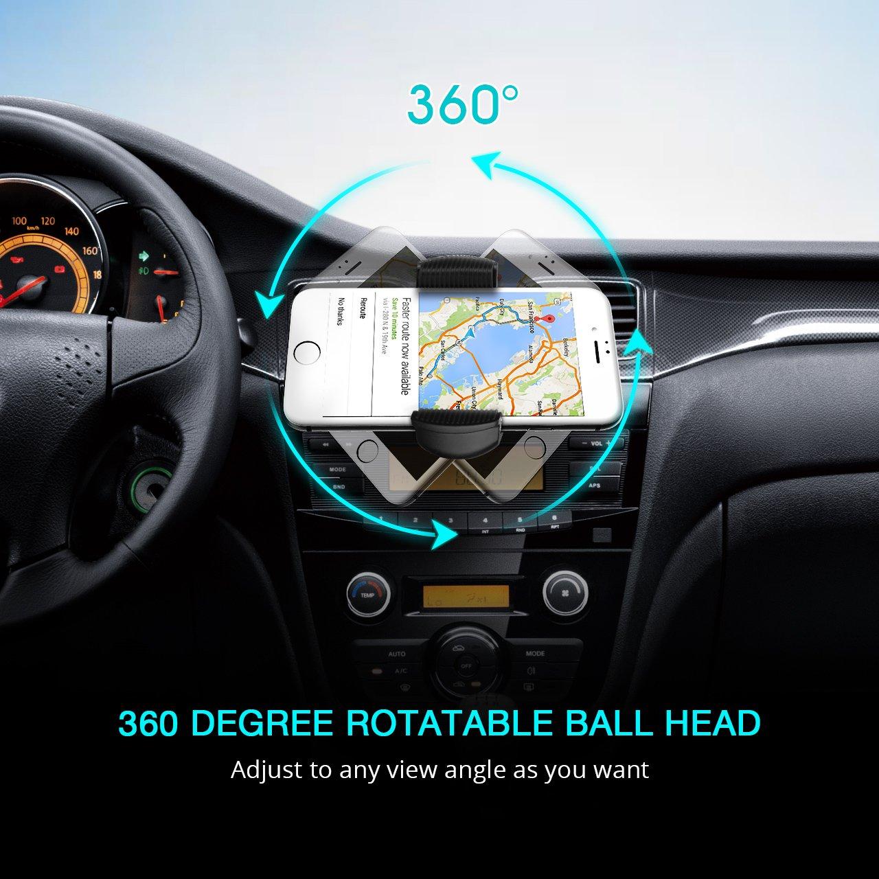 Mpow CD Schlitz Handyhalterung Auto 360/° Drehung kfz smartphone halterung,Universal CD-Schlitz Autohalterung mit Klemme,handyhalter f/ür auto f/ür iPhone,Galaxy,Huawei,Sony usw smartphone/& GPS Ger/äte