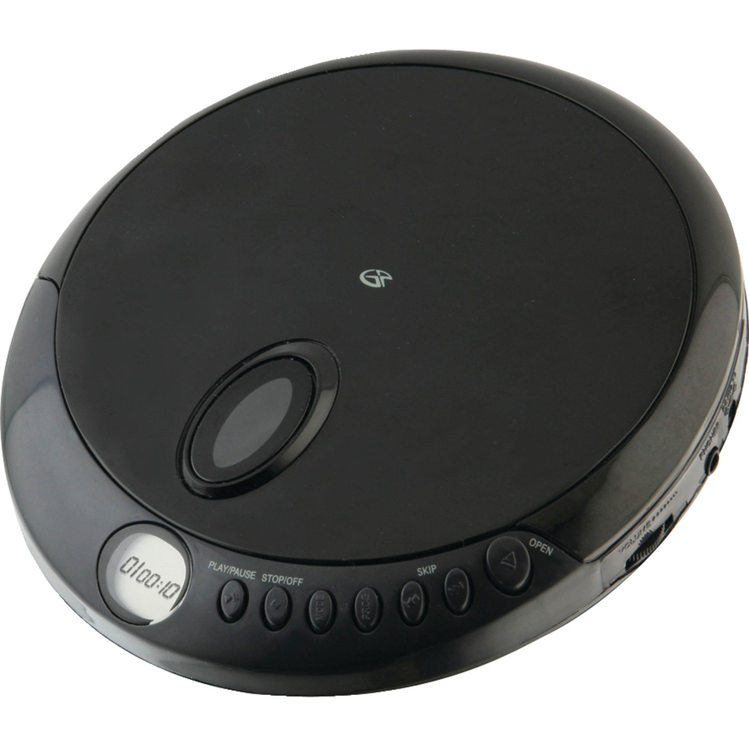 gpx pc301b portable cd player with stereo earbuds and anti. Black Bedroom Furniture Sets. Home Design Ideas