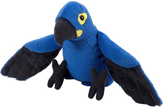 E-Chariot Soft Toys Hyacinth Mini Macaw Plush Stuffed Animal Cuddlekins by Wild Republic (10865) 8 Inches