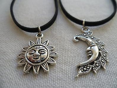 ee673cdf40b48 Amazon.com: Sun and Moon Choker Set, Sun and Moon Necklace Set,sun ...