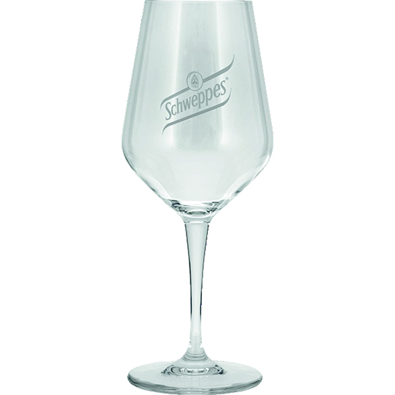 6 Schweppes-Gläser  0,3 Liter
