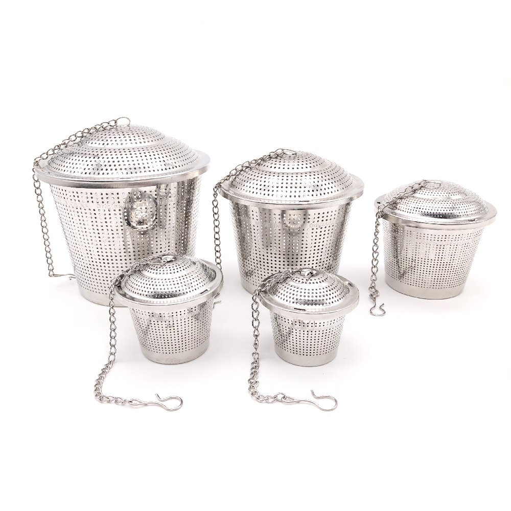 BITEYI Tea Infuser Stainless Steel Extra Fine Mesh Tea Strainer Tea Filter with Hook for Loose Leaf Teas (Set of 5)