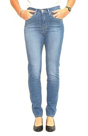 Angels Jeans Damenjeans Skinny Blue Used Buffi: