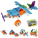 PBox Kids' 132-Piece 5-in-1 Building Block Set