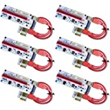 6-Pack MintCell VER 008S Multi-Power 16x to 1x Powered Riser Adapter Card 60cm USB 3.0 Extension Cable - GPU Riser Adapter -