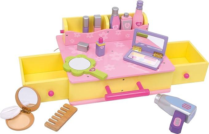 Small Foot Kosmetikkoffer Spielzeug - Kinder Schminktisch Spielzeug Bestseller