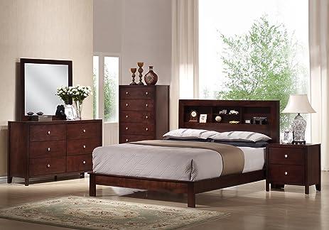 Yuan Tai Josco 5 Piece Bedroom Furniture Set, Queen