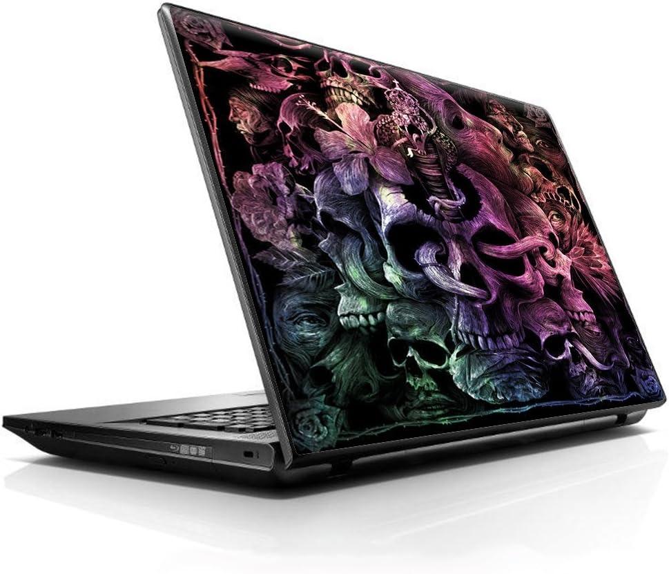 "15 15.6 inch Laptop Notebook Skin vinyl Sticker Cover Decal Fits 13.3"" 14"" 15.6"" 16"" HP Lenovo Apple Mac Dell Compaq Asus Acer / Skull Art Creepy"