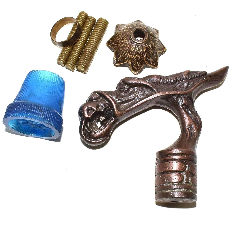 Antique Brass Dragon Handle cane Walking Stick Designer Vintage Walking Canes